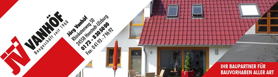 Baugeschäft Vanhöf – Henstedt-Ulzburg – seit 1960 – Ihr Baupartner für Bauvorhaben aller Art